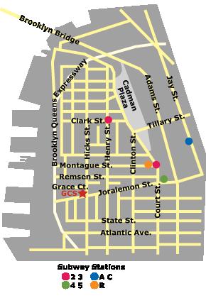 GCS map